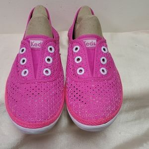 Keds Bright Pink.Slip On Sneakers